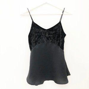 Stunning 20's Deco Inspired Silky Velvet Black Top